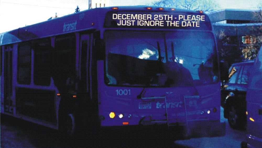 Saskatoon city committee ho-ho-holds off on dropping transit Christmas greeting